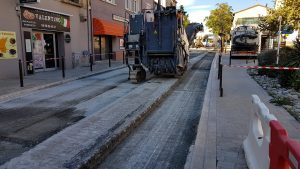 Rabotage avenue de Perpignan