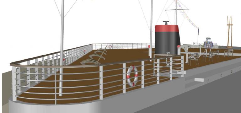 """Le navire """"Le Fance"""" représenté à Canet Sud"""