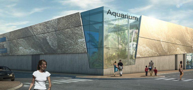 Vue aquarium du boulevard de la Jetée
