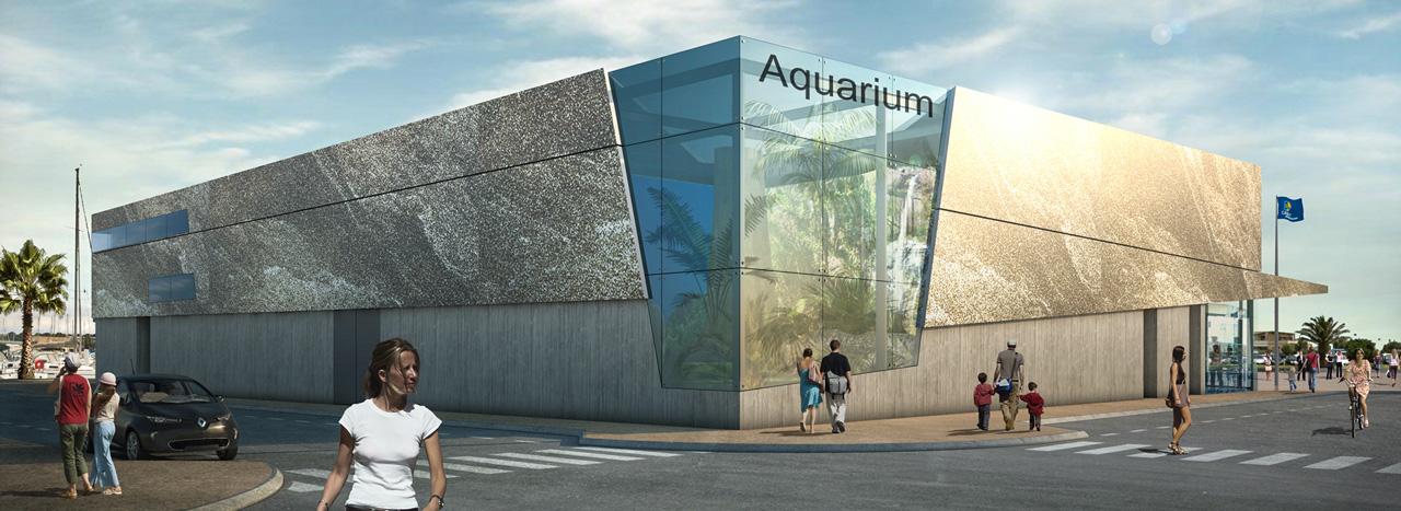 Vue aquariumdu boulevard de la Jetée