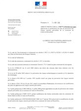 Arrêté Approuvant Modification PPR