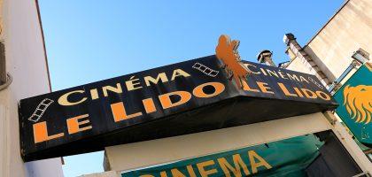 Devanture de l'ancien cinéma Le Lido