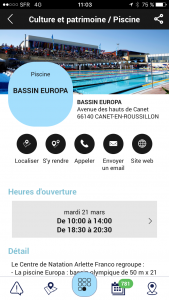 Horaires et informations bassin Europa
