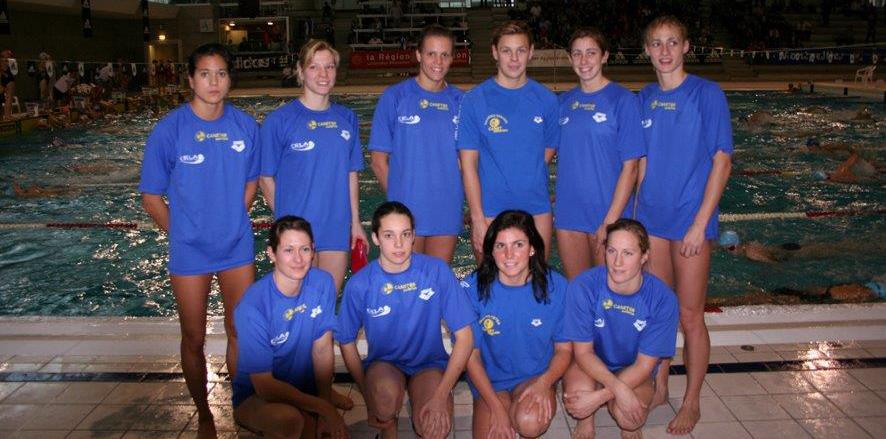 Équipe 1 Dames Championne de France Interclubs 2008 avec Laure Manaudou (2e rang - 3e à partir de la gauche).