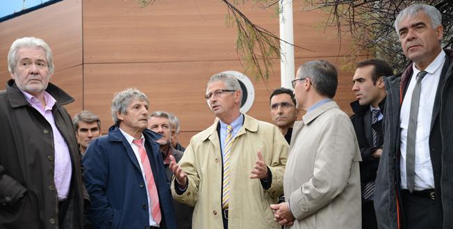 Didier Codorniou, Vice-president de la Région Occitanie, Bernard Dupont et Philippe Vignes (Préfet des P.O).