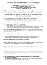 Documents à fournir pour mineur