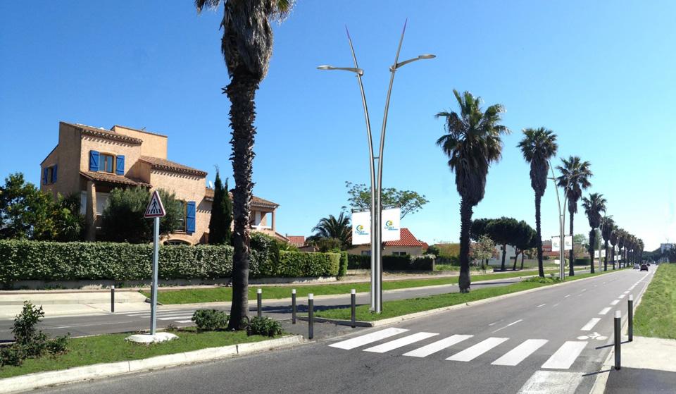 Nouvel éclairage public avenue méditerranée