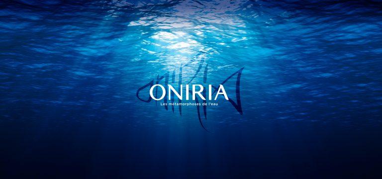 Fond marin avec logo Oniria