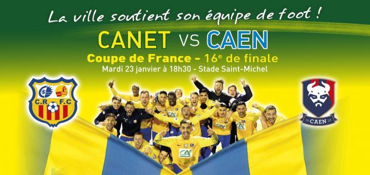 Affiche Foot Canet Caen