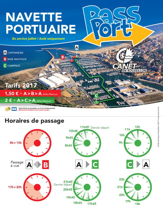 Circuit et horaires navette portuaire