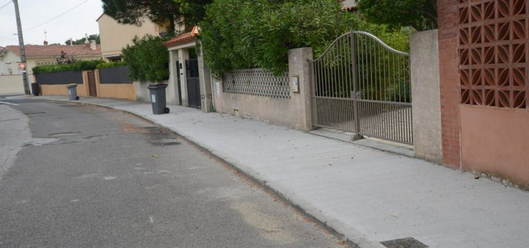 Nouveaux trottoirs, impasse de la Tramontane