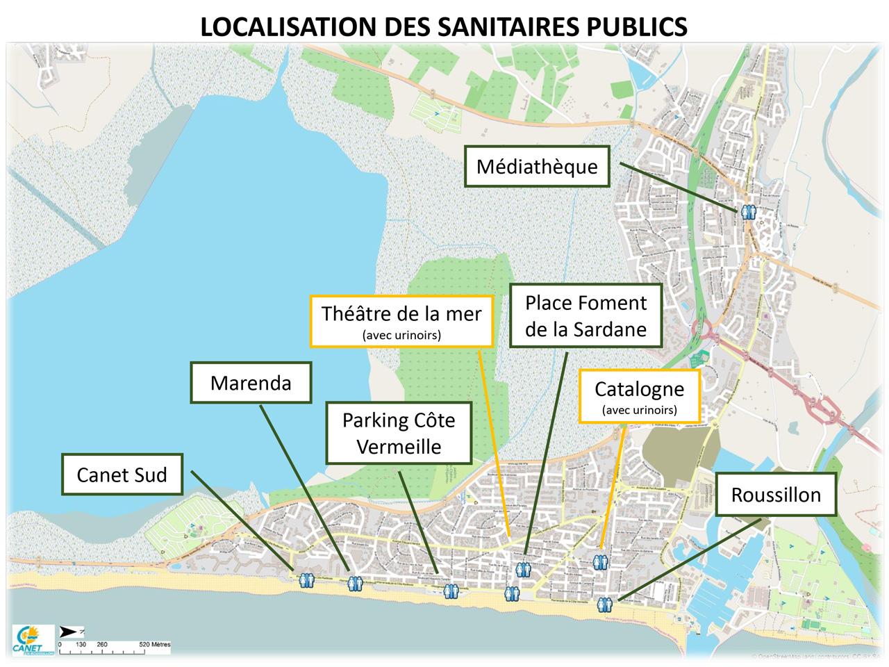 Localisation des sanisettes