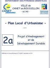 Projet d'Aménagement et de Développement Durable