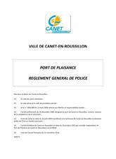 Règlement général de Police
