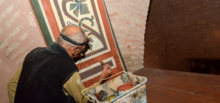 Restauration frises murales église Saint-Jacques