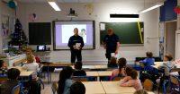police municipal sécurité routière en classe