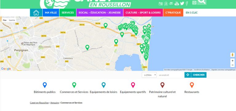 Aperçu site commerces