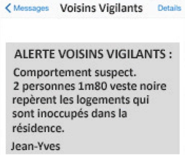 sms voisins vigilants